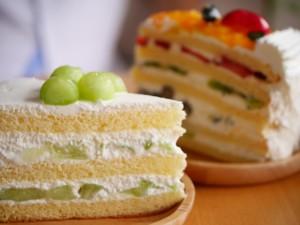 糖質たっぷりのケーキ